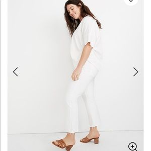 NEW Madewell Cali Demi-Boot Jeans in Pure White